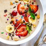 a smoothie bowl - one of paleo menu