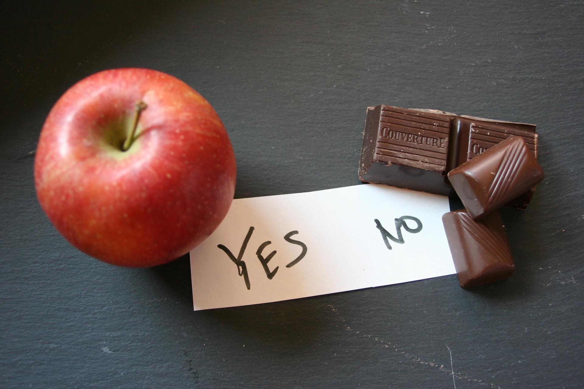 Apple and chocolate